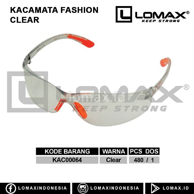 KACAMATA FASHION CLEAR