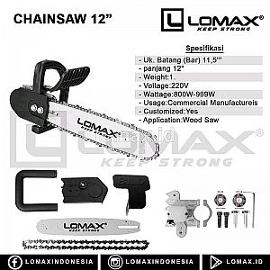 "Gergaji Mesin 12"" Chainsaw 12 inch"